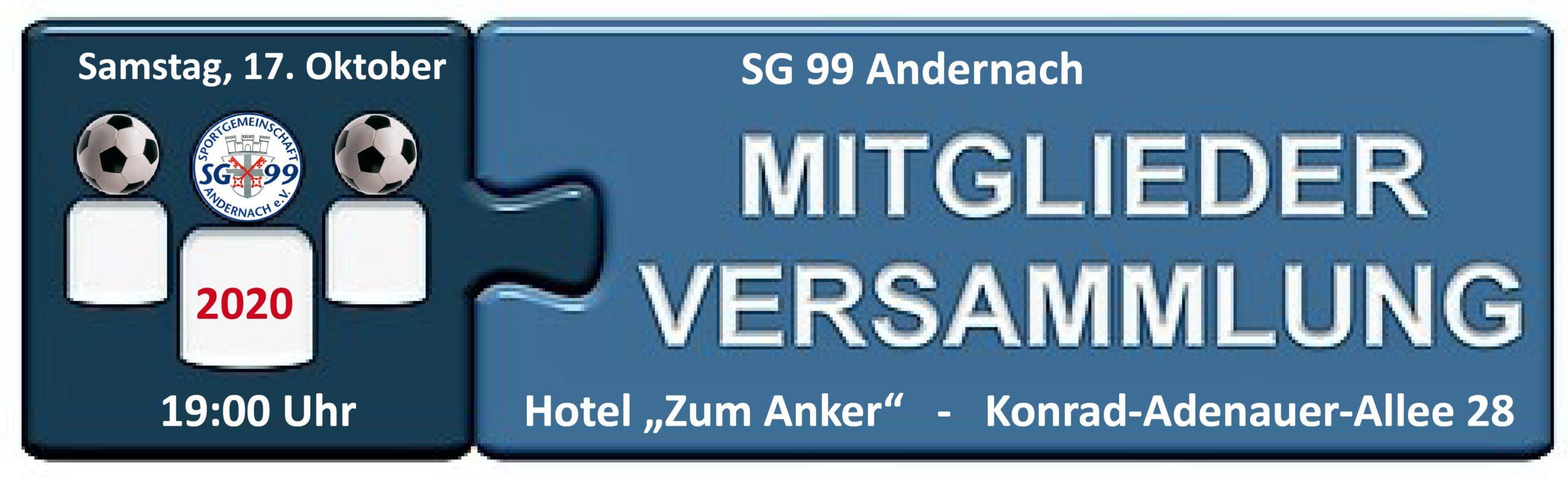 Bitte vorab anmelden unter info@sg99-andernach.de !